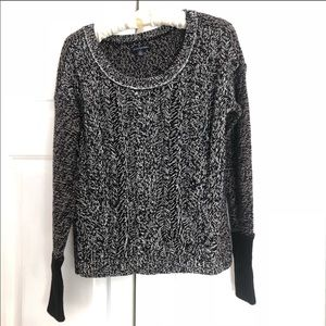 American Eagle marled speckled black sweater